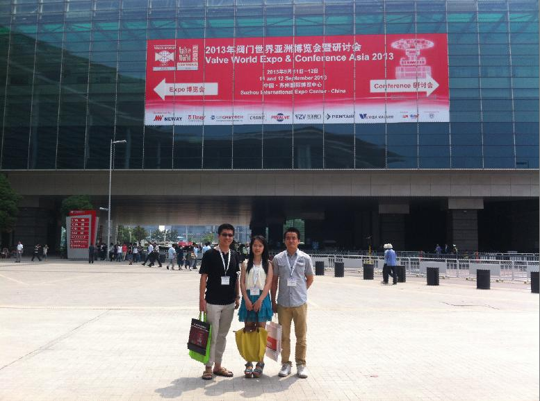 Attendee of Valve World Expo Asia 2013 in Suzhou