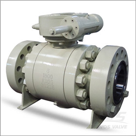 ASTM A105N Trunnion Mounted Ball Valve, 6 Inch