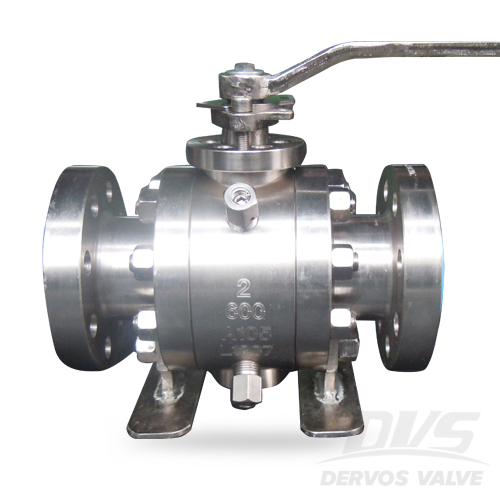RTJ Trunnion Mounted Ball Valve, ASTM A105 2 Inch