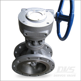 CF8 Gearbox Operated Butterfly Valve, RF, 150LB