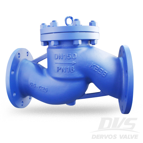 DIN Lift Check Valve, DN150, PN16, RF, GS-C25