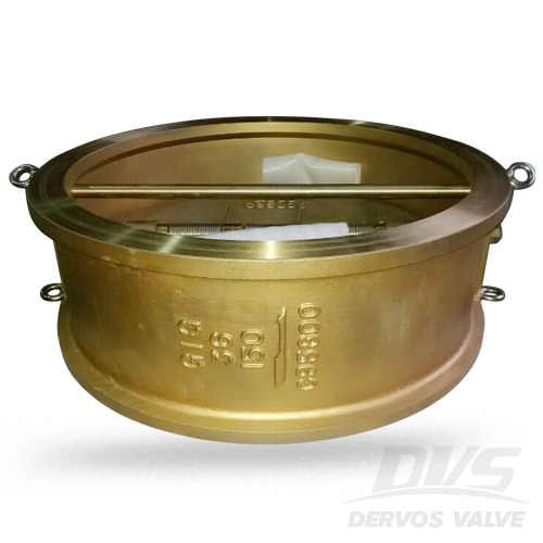Dual Plate Check Valve, C95800, 36 Inch Wafer End