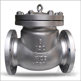 Swing Check Valve, 6 Inch, CL150, API 598