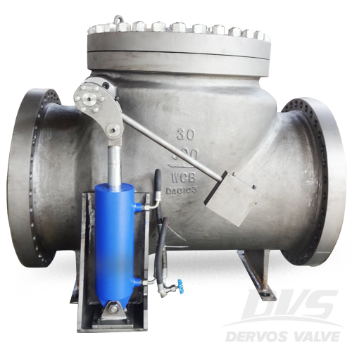 Swing Check Valve with Cylinder, 30 Inch, CL300