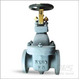FC200 Cast Iron Marine Gate Valve, Flat Face
