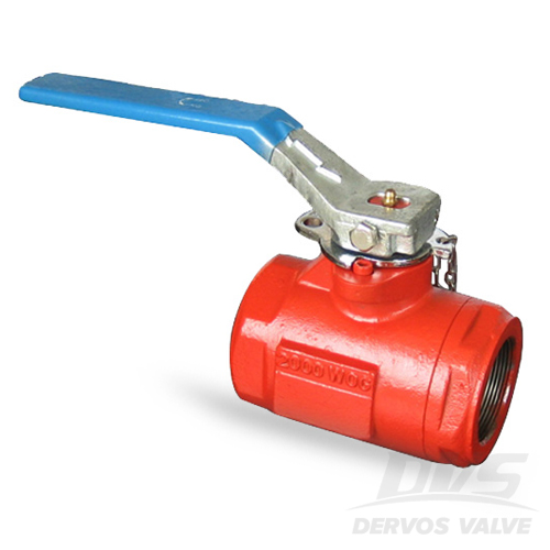 1PC Ball Valve, 1.5 Inch, 2000psi, FNPT, WCB