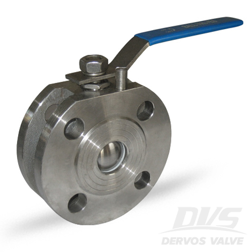 1PC Ball Valve Short Pattern, 1IN, CL300, Wafer, CF8M