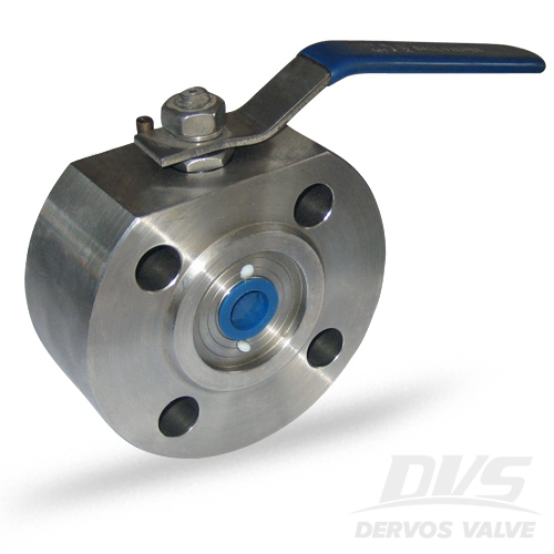 1PC Ball Valve Short Pattern, 3/4IN, CL600, Wafer, 304