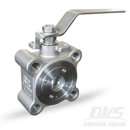 1PC Ball Valve Short Pattern, DN25, PN16, Lugged, 1.4408