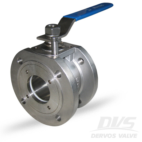 1PC Ball Valve Short Pattern, DN40, PN25, RF, CF8