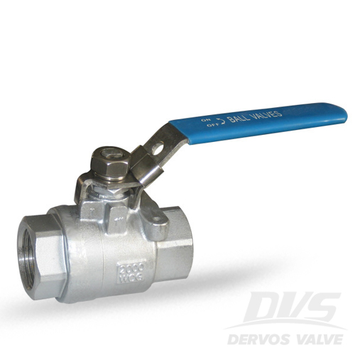 2PC Ball Valve, 1 Inch, 2000WOG, NPT, 316