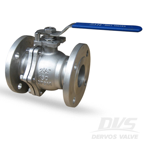 2PCS Ball Valve, 2.5 Inch, CL150, RF, CF3M