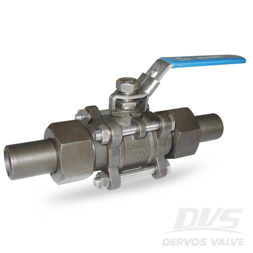 3PCS Ball Valve with Lock, 3/4IN, 1000WOG, SW, CF8