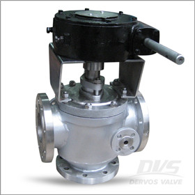Three Way Jacket Plug Valve, WCB, 4 X 3 Inch